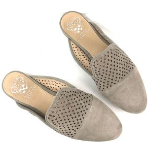Vince Camuto Leather perforated Mule Size 6